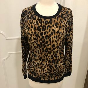 Leopard studded sweater size small